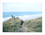 surfers in cornwall checking out the beach by slbradley