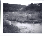 Texas landscape black and white polaroid by slbradley