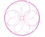 pink watercolour mandala by slbradley