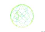 green watercolour mandala by slbardley